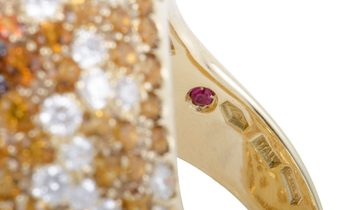Roberto Coin Roberto Coin 18K Yellow Gold Orange Citrine and Topaz and Diamond Cocktail Ring