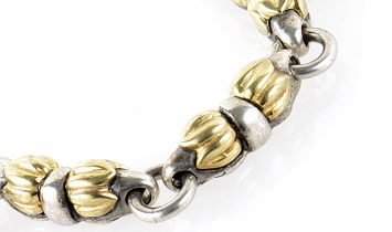 LB Exclusive LB Exclusive Silver and 18K Yellow Gold Necklace