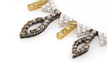 Non Branded 18K White Gold Multi-Diamond Necklace CND6403