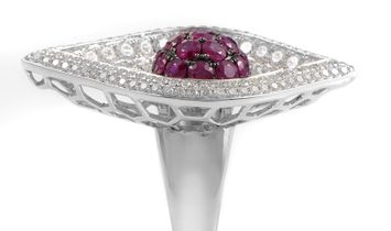 French Collection French Collection 18K White Gold & Ruby Ring 21388616