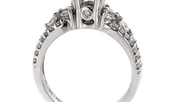 A. Jaffe A. Jaffe 18K White Gold Magnificent Diamond Mounting Ring