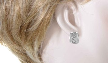 Van Cleef & Arpels Van Cleef & Arpels Women's 18K White Gold Diamond Wave Huggie Earrings