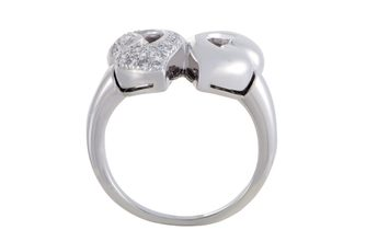 Bvlgari Bvlgari Nuvole Womens Platinum Diamond Pave Ring