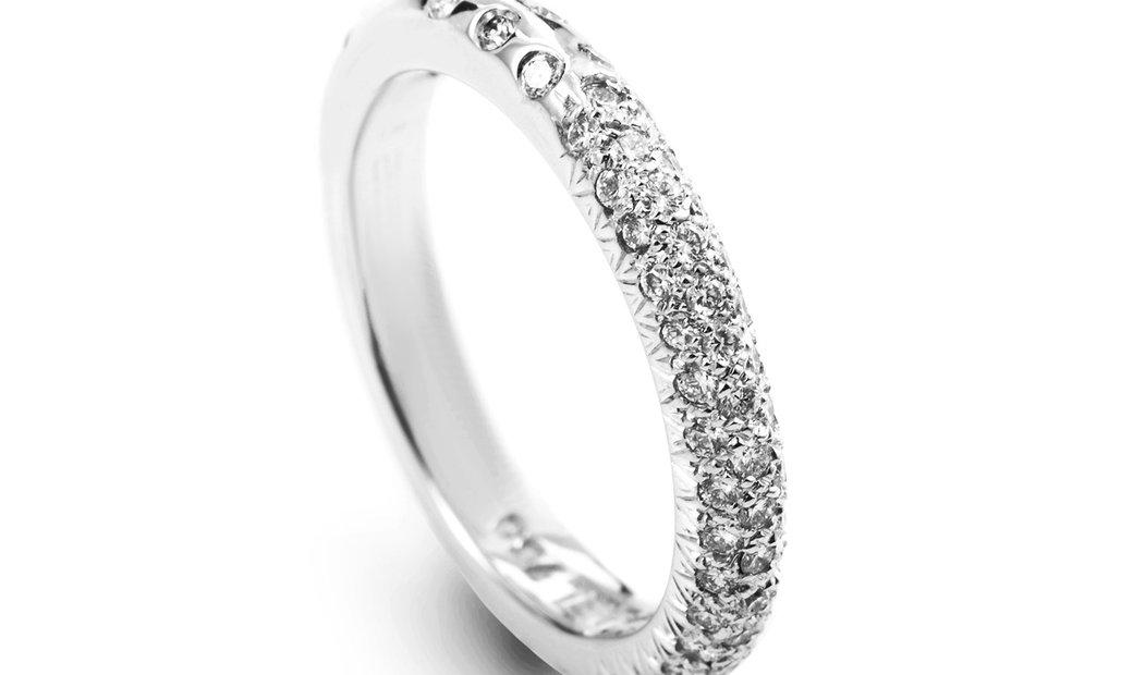 Chanel Chanel 18K White Gold Diamond Pave Band
