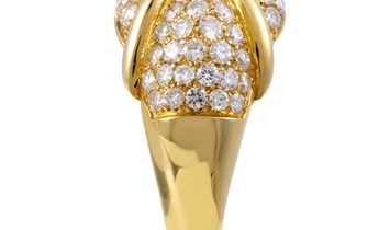 Chaumet Chaumet Women's 18K Yellow Gold Diamond Pave Ring