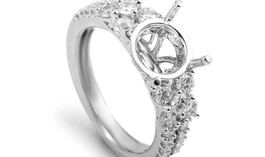 Simon G. Simon G. 18K White Gold Diamond Engagement Ring Mounting 21685557W