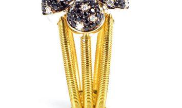 Della Riva Della Riva 18K Yellow Gold Multi Diamond Spheres Ring