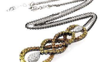 Salavetti Salavetti 18K White Gold Multi Sapphire and Diamond Necklace SALAG01-080612