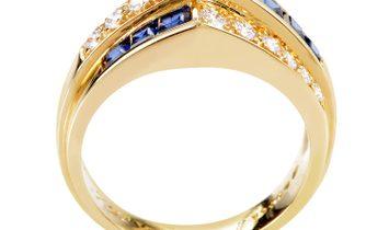Oscar Heyman Oscar Heyman Women's 18K Yellow Gold Diamond & Sapphire Ring AK1B4235