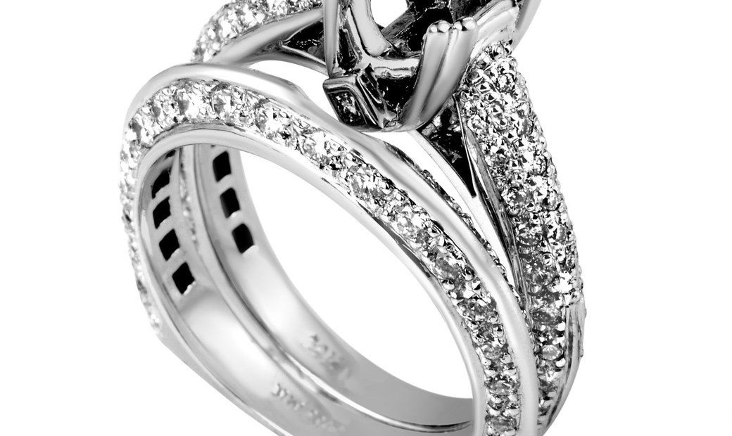 Natalie K Natalie K Women's 14K White Gold Diamond Bridal Mounting Set SM4-12968W