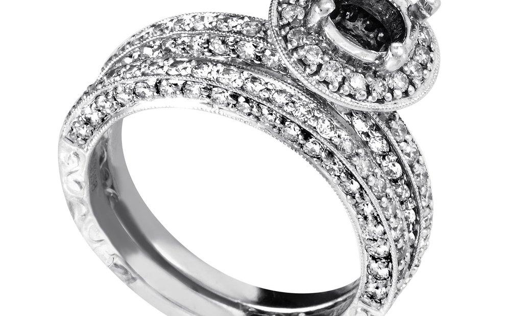 Natalie K Natalie K Women's 14K White Gold Diamond Bridal Mounting Set SM4-12930W