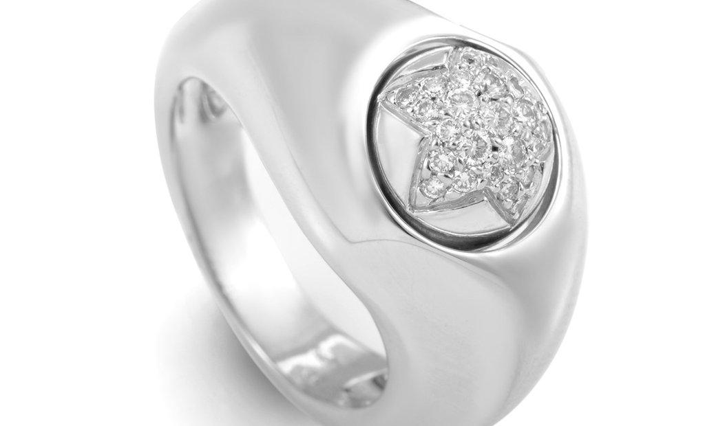 Piaget Piaget 18K White Gold Diamond Star Ring