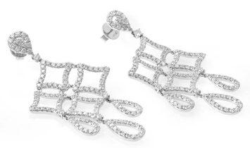 LB Exclusive LB Exclusive 18K White Gold Diamond Pave Chandelier Drop Earrings AER-8931W