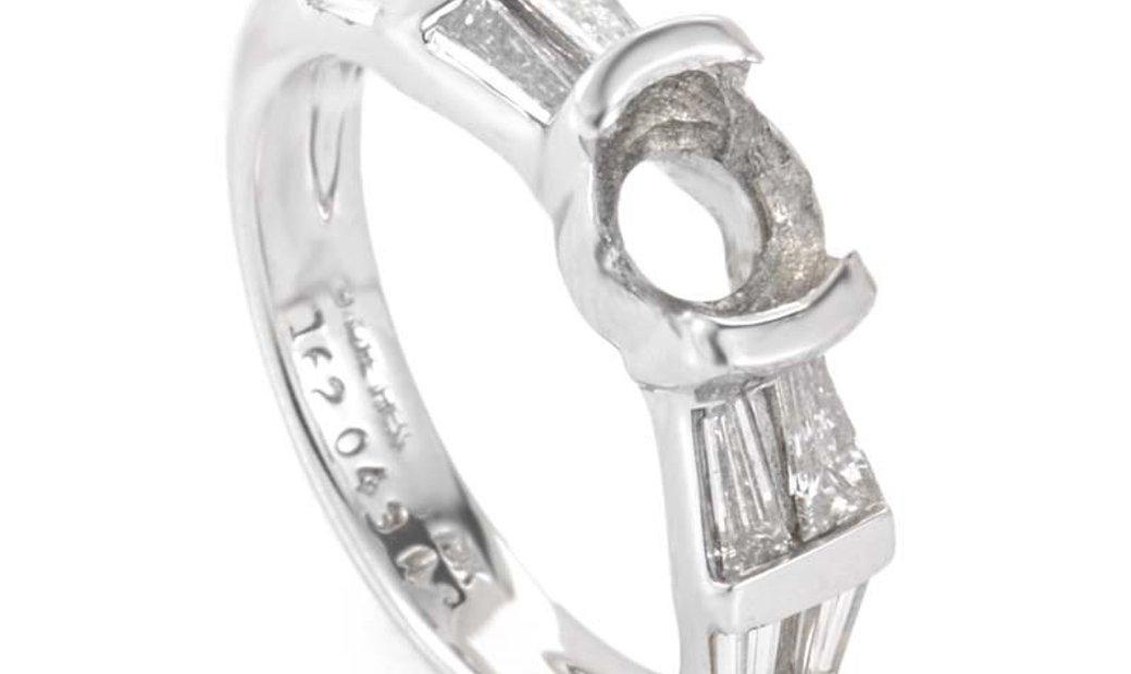 Jose Hess Jose Hess 18K White Gold Diamond Engagement Ring Mounting JHE01-062913