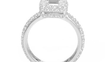 LB Exclusive LB Exclusive 18K White Gold Diamond Pave Engagement Ring Mounting ASM-2340W