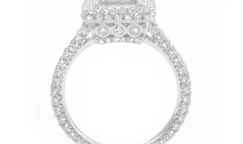 LB Exclusive LB Exclusive 18K White Gold Diamond Pave Engagement Ring Mounting ED-9746W