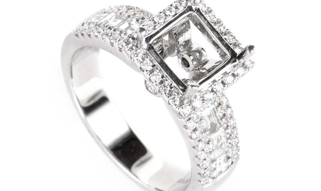 Natalie K Natalie K ~.89ct 18K White Gold Diamond Engagement Ring Mounting