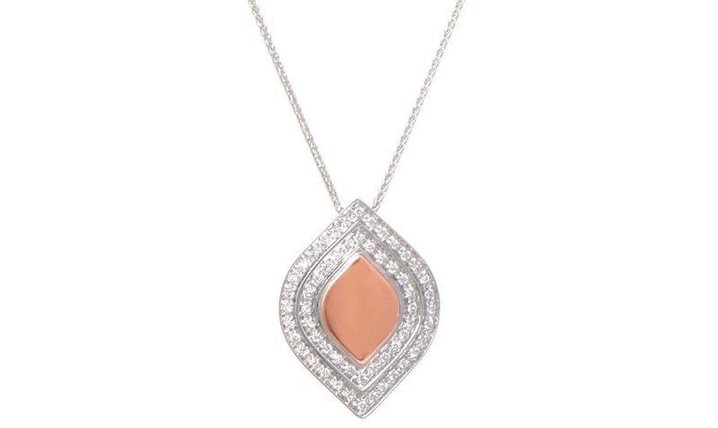 Salvini Salvini 18K White & Rose Gold Diamond Pendant Necklace