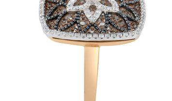 Gregg Ruth Gregg Ruth Women's 18K Rose Gold Diamond Flower Ring RD8-10003TT