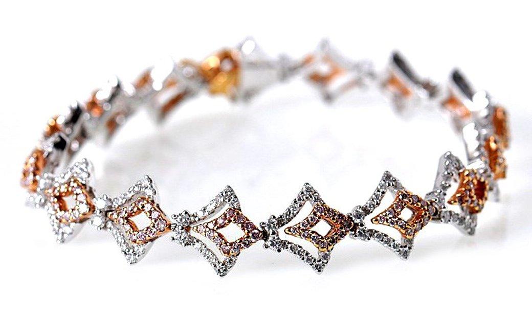 Gregg Ruth Gregg Ruth 18K Multi-Tone Gold Diamond Bracelet