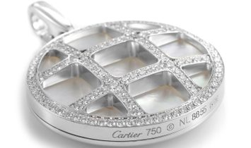 Cartier Cartier Pasha Women's 18K White Gold Mother of Pearl & Diamond Pendant