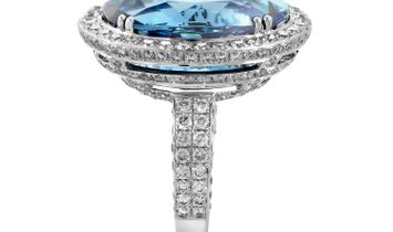 LB Exclusive LB Exclusive 18K White Gold Topaz & Diamond Ring ODE03-121715