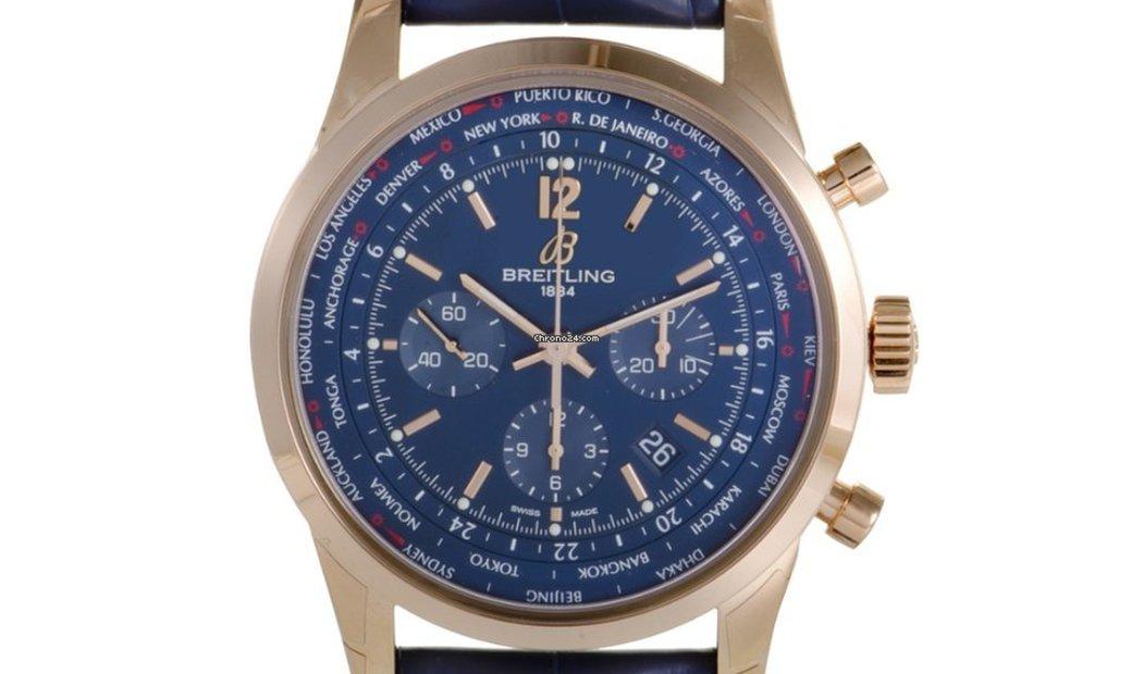 Breitling Transocean Unitime Pilot 46 mm Watch RB0510V1/C880