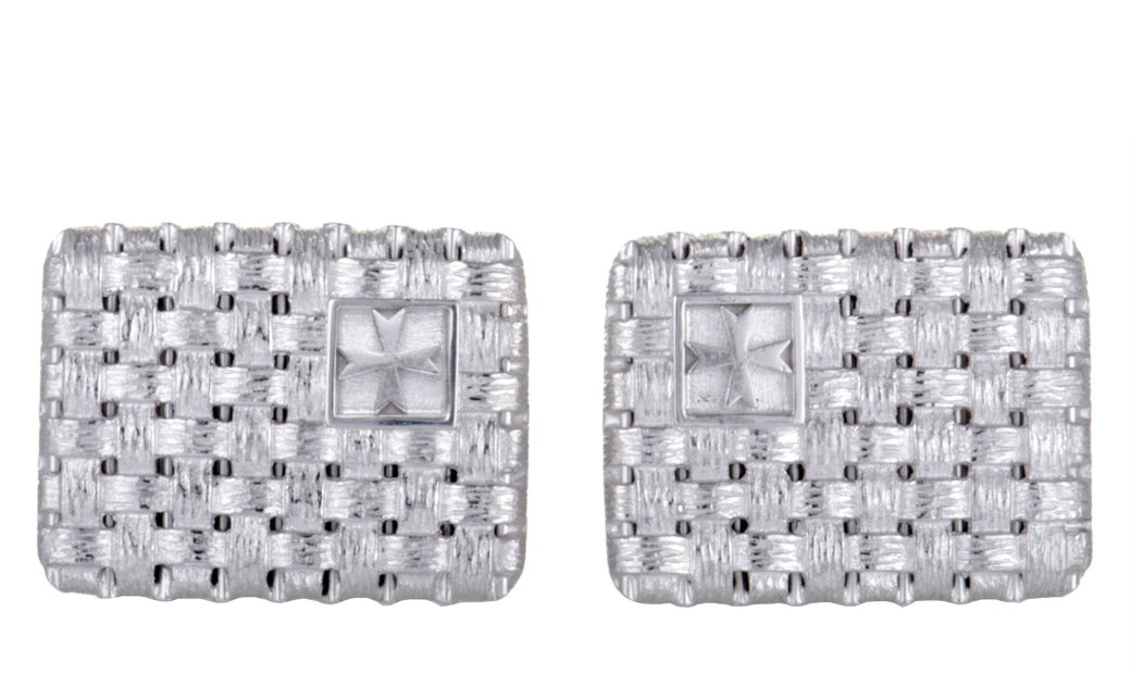 Vacheron Constantin Vacheron Constantin 18K White Gold Woven Rectangle Cufflinks