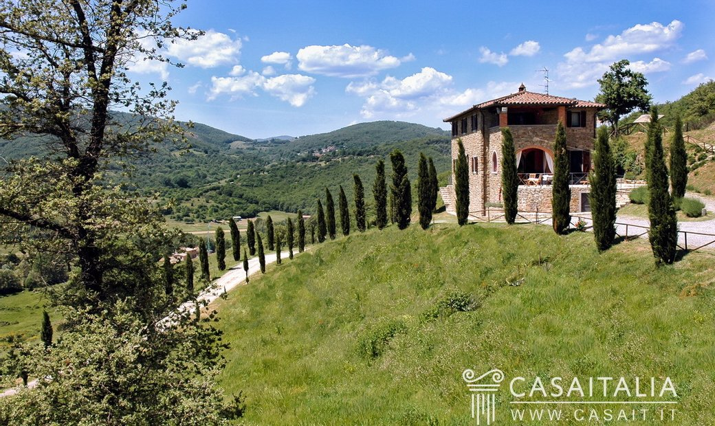 Villa with pool in hilly location