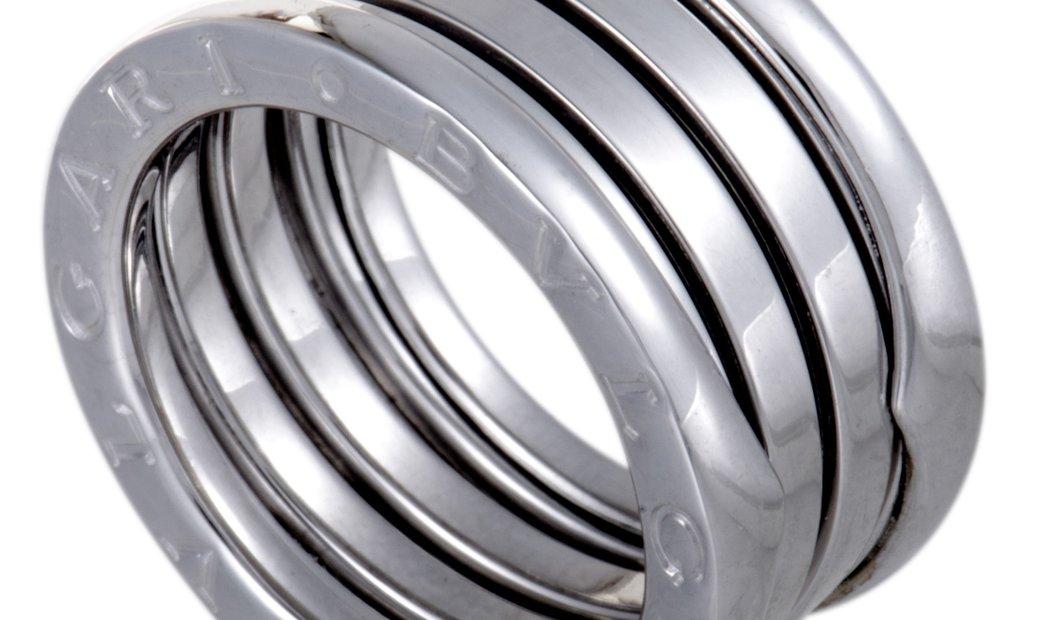 Bvlgari Bvlgari B.Zero1 18K White Gold 4-Band Ring