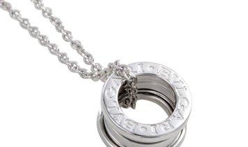 Bvlgari Bvlgari B.Zero1 18K White Gold Ring Pendant Necklace