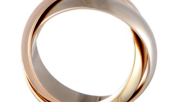 Cartier Cartier Trinity de Cartier 18K Yellow White and Rose Gold Rolling Three Band Ring