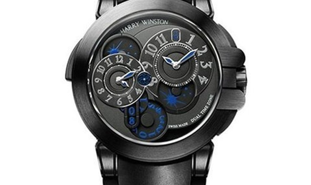Harry Winston Ocean Dual Time Black Edition OCEATZ44ZZ007