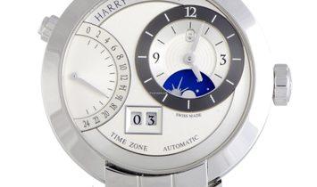 Harry Winston Premier Excenter Time Zone Automatic Watch PRNATZ41WW002