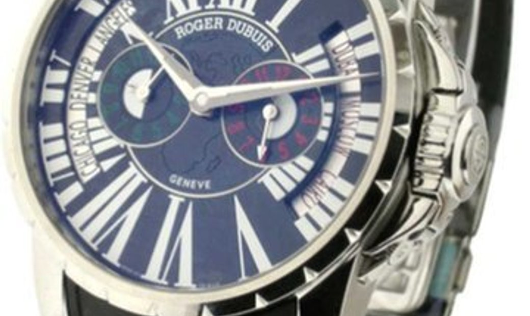 ROGER DUBUIS EXCALIBUR TRIPLE TIME ZONE EX45 1448 99.71TT/28