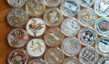 "World's Rarest  ""$200 Casino Gaming Tokens"" Silver .999+ Collection"