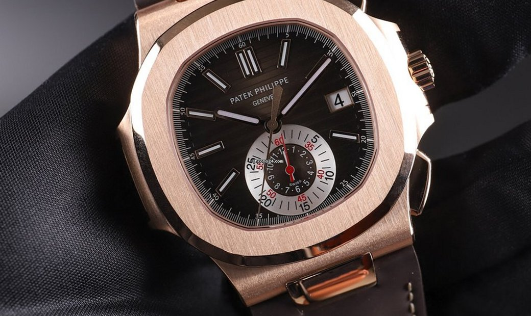 Patek Philippe NEW Nautilus 5980R-001 Rose Gold Chronograph