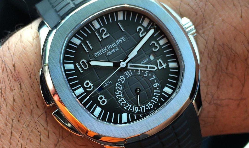 Patek Philippe NEW Aquanaut Travel Time 5164A-001