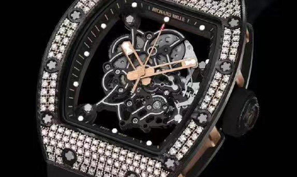 Richard Mille NEW RM 055 Bubba Watson RG Carbon TPT Med Set Diamonds