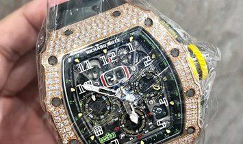 Richard Mille [NEW] RM 11-03 Rose Gold Med Set Diamond Watch