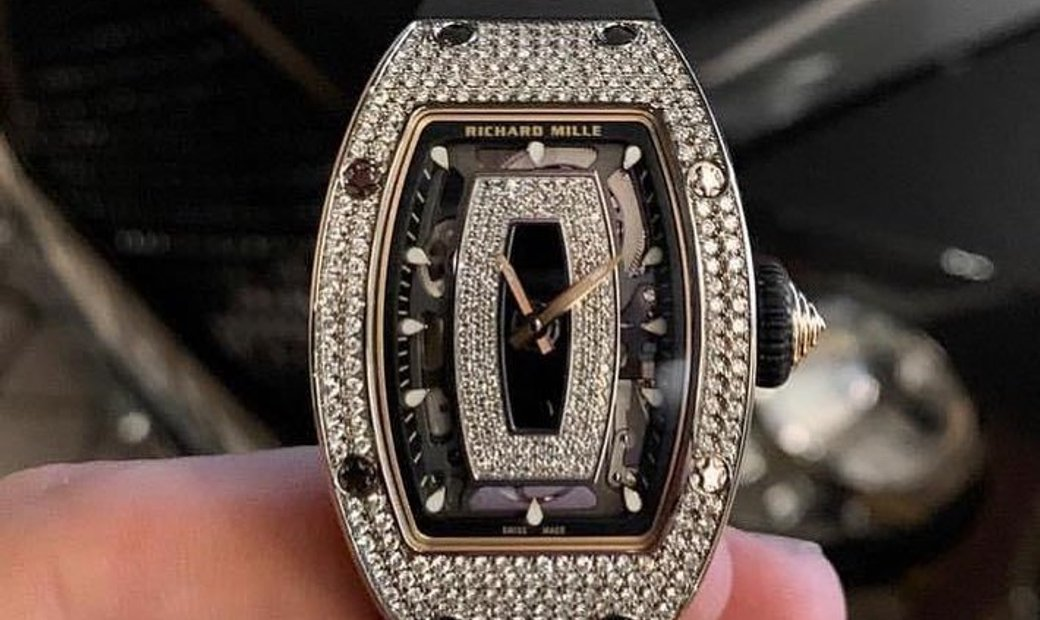 RICHARD MILLE NEW RM 07-01 WHITE GOLD LADIES FULL SET DIAMOND WATCH