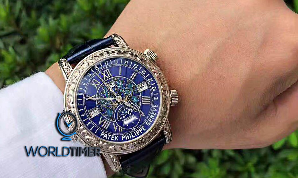 Patek Philippe 2017 USED Grand Complications Sky Moon Tourbillon 6002G Blue Dial - SOLD!!已賣!!