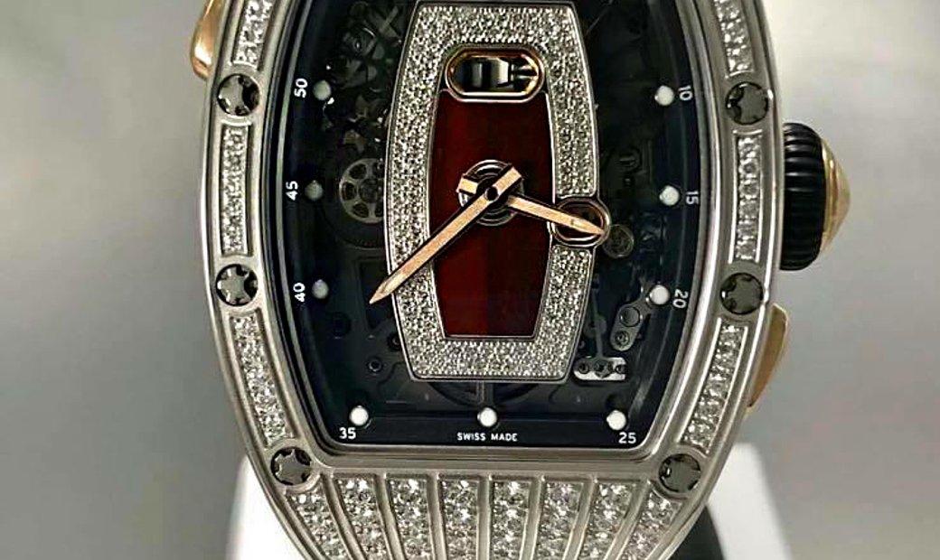 Richard Mille NEW RM 037 WG Jasper Medium Set Diamonds Ladies