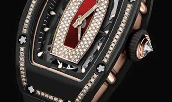 Richard Mille NEW RM 07-01 Black Ceramic Diamond Red Lip Automatic Ladies