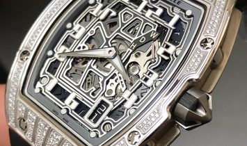 Richard Mille NEW RM 67-01 White Gold Med Set Diamonds Auto Extra Flat