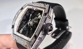 Richard Mille NEW RM 023 White Gold Full Set Pave Diamonds Mens Watch