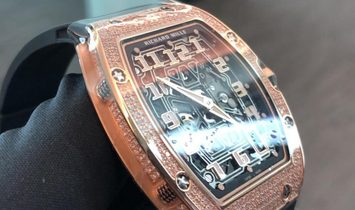 Richard Mille NEW RM 67-01 Rose Gold Full Set Diamonds Auto Ultra Flat