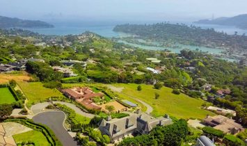 Grand Gated Estate With Breathtaking Bridge To Bridge Views Perched Atop Tiburon