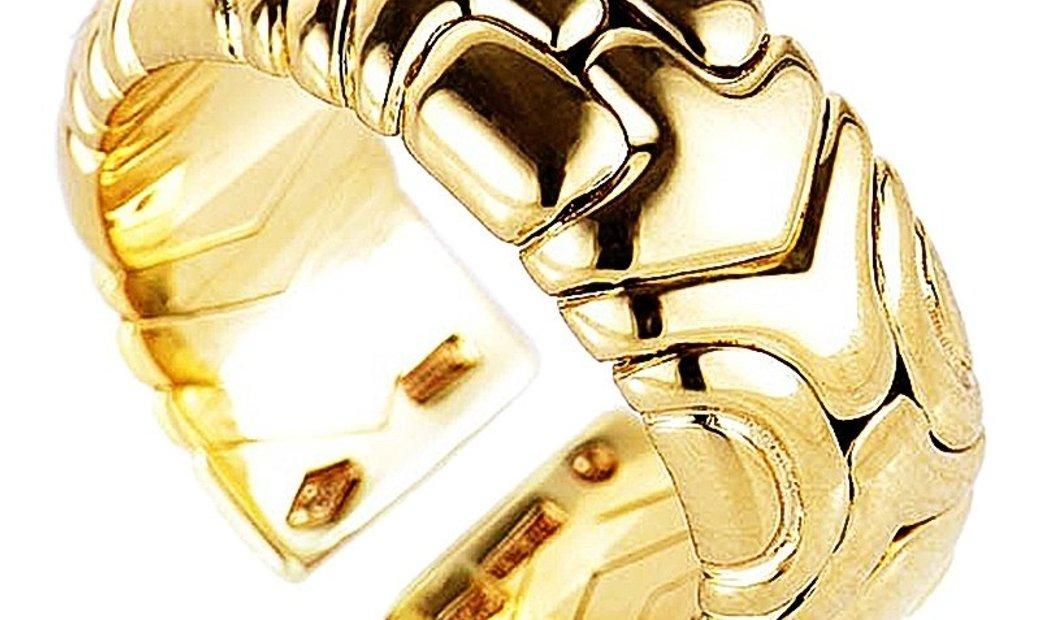 Bvlgari Bvlgari Alveare 18K Yellow Gold Band Ring