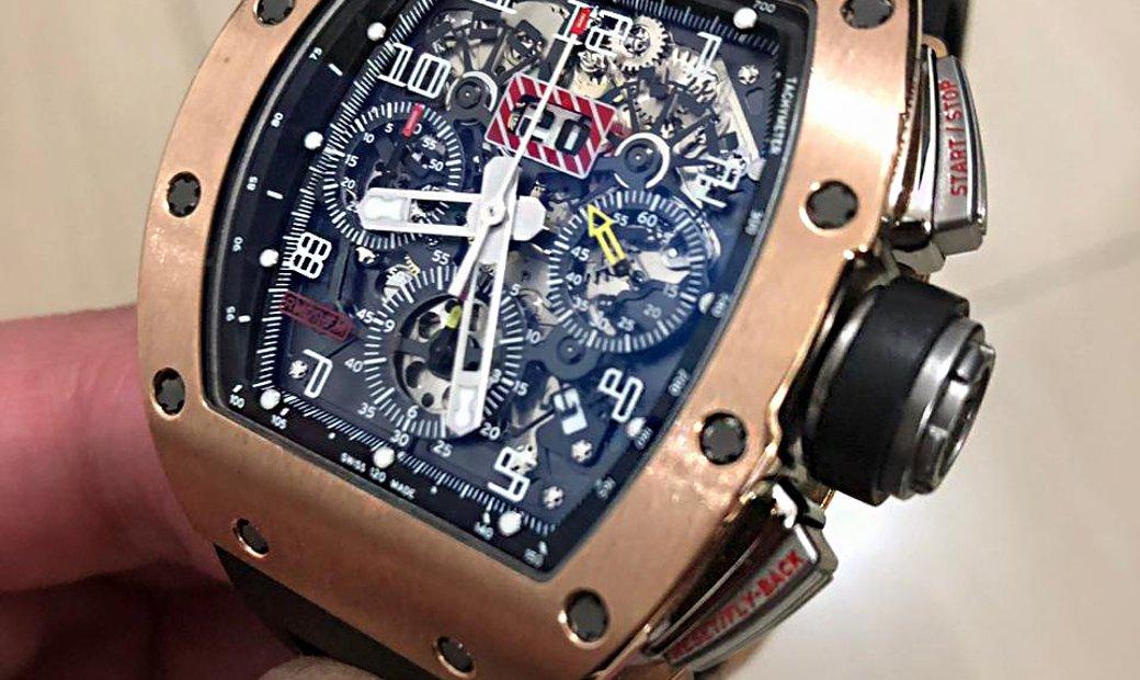 Richard Mille 2015 USED 'Felipe Massa' RM 011 Rose Gold Automatic Mens Watch